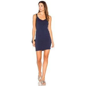 LA Made V Neck Knit Adjustable Straps Dress